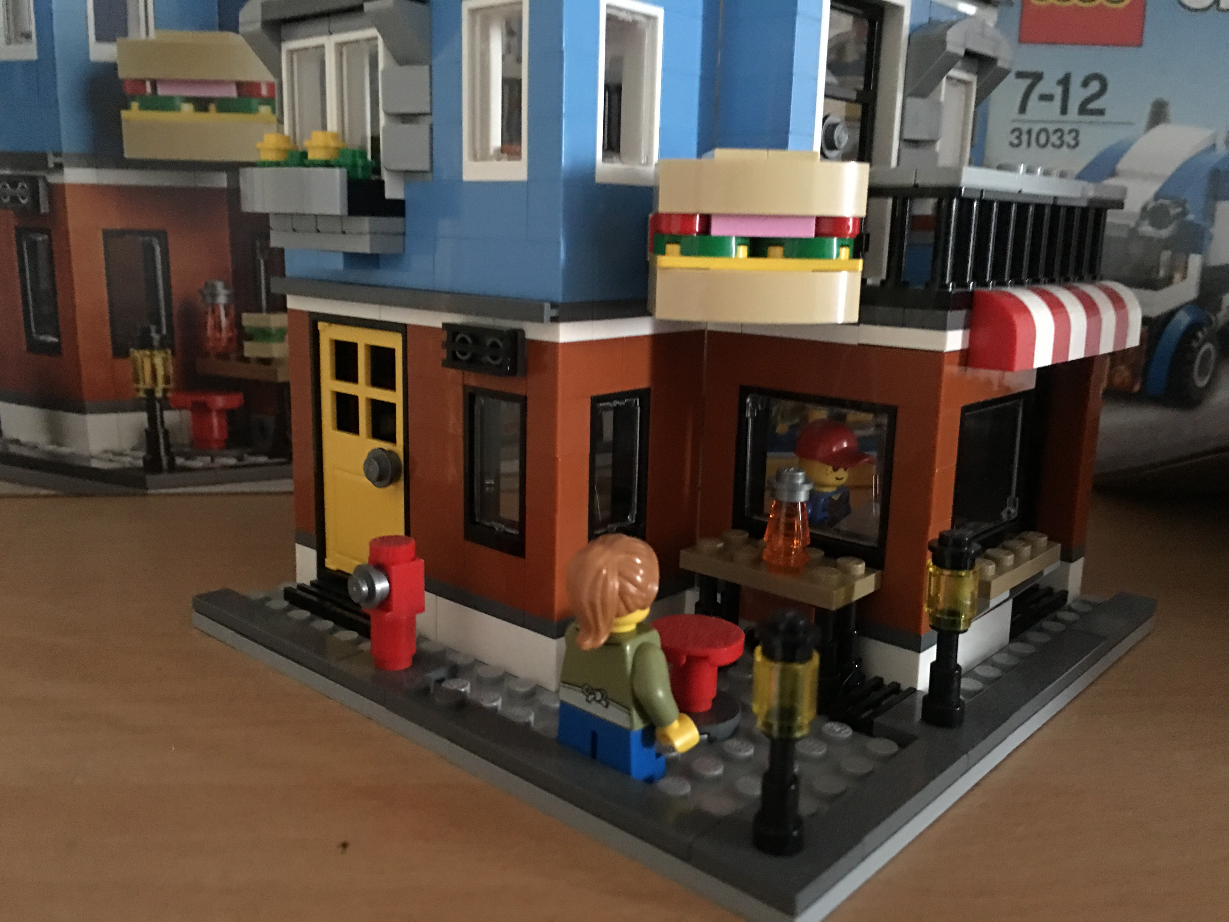 The design of the deli is quite intricate with two storeys and decoration  around the roofs and Windows. The box suggests ages 8 – 12 so this is  definitely a ...